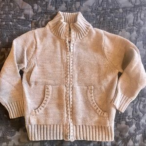 Old navy gray zip up sweater 3T
